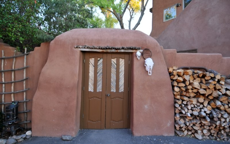 Placitas NM adobe gate