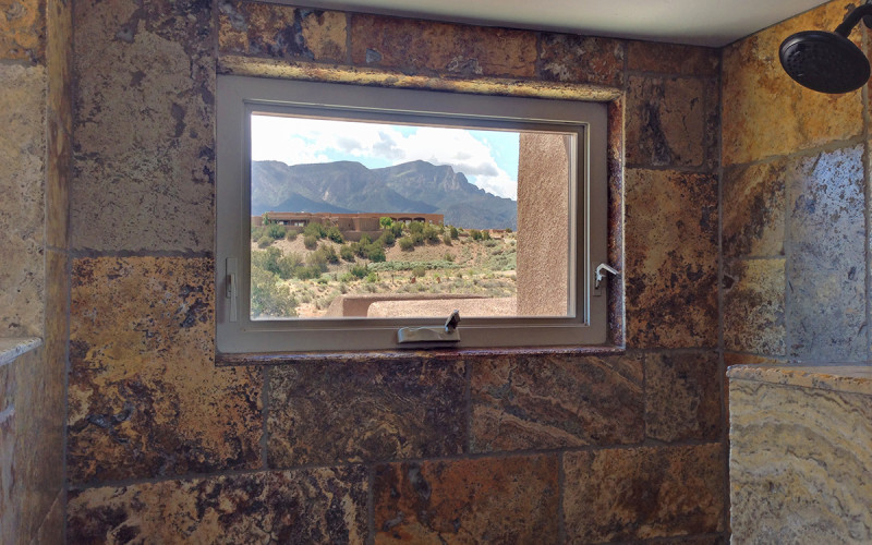 shower view Placitas
